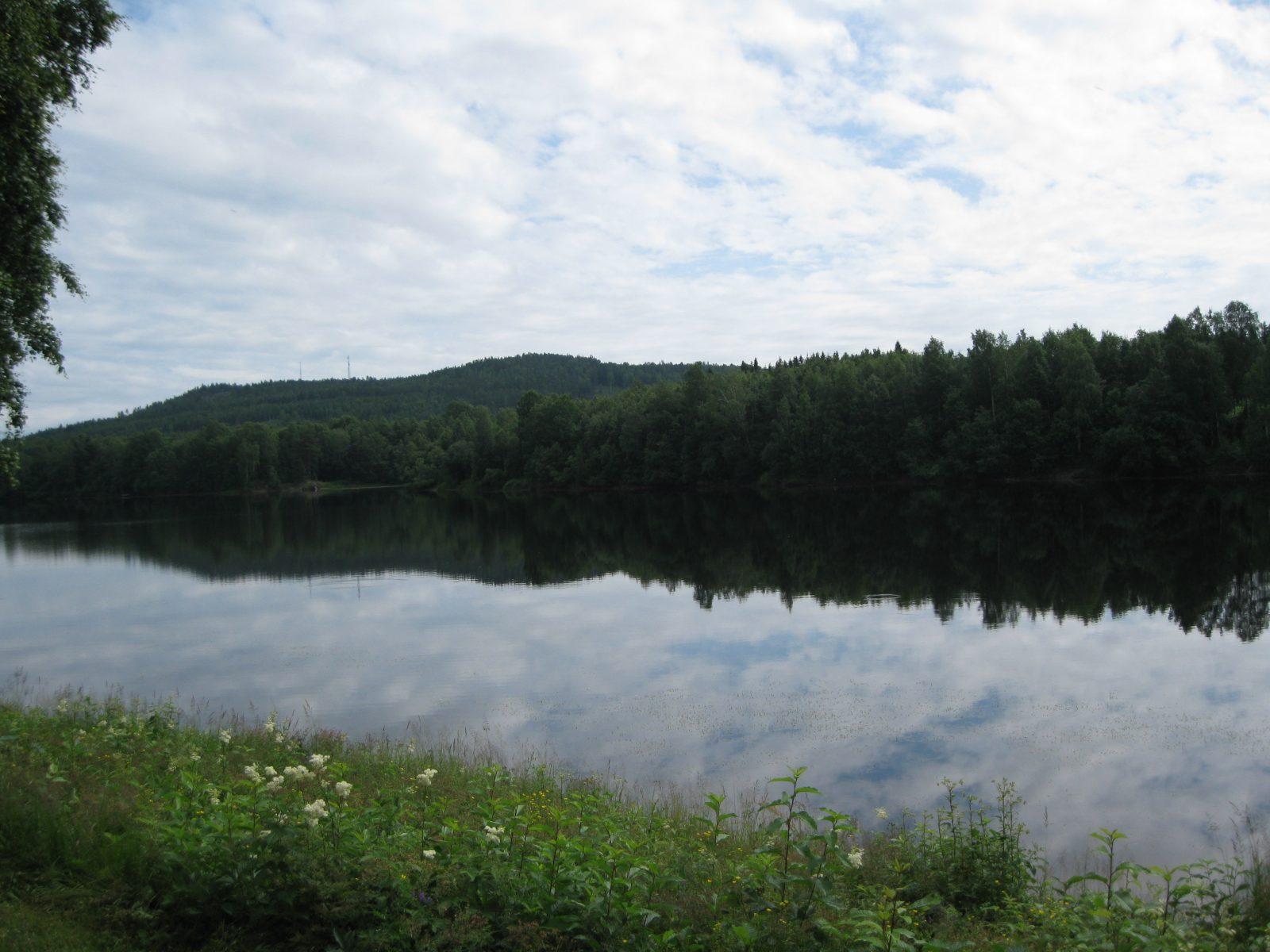 Scenic river promenad view