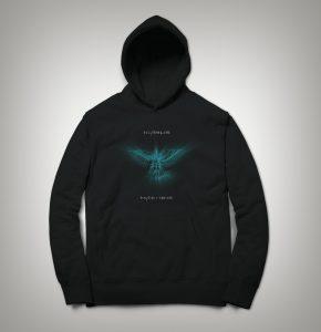 Black Hoodie with Icarus Machine Logo