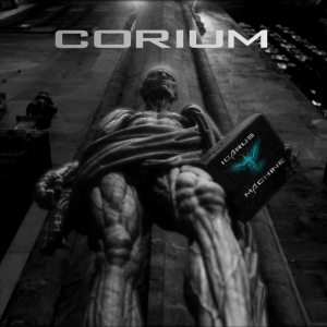 Corium Album Cover. A flayed man, a bible. Ancient statue.