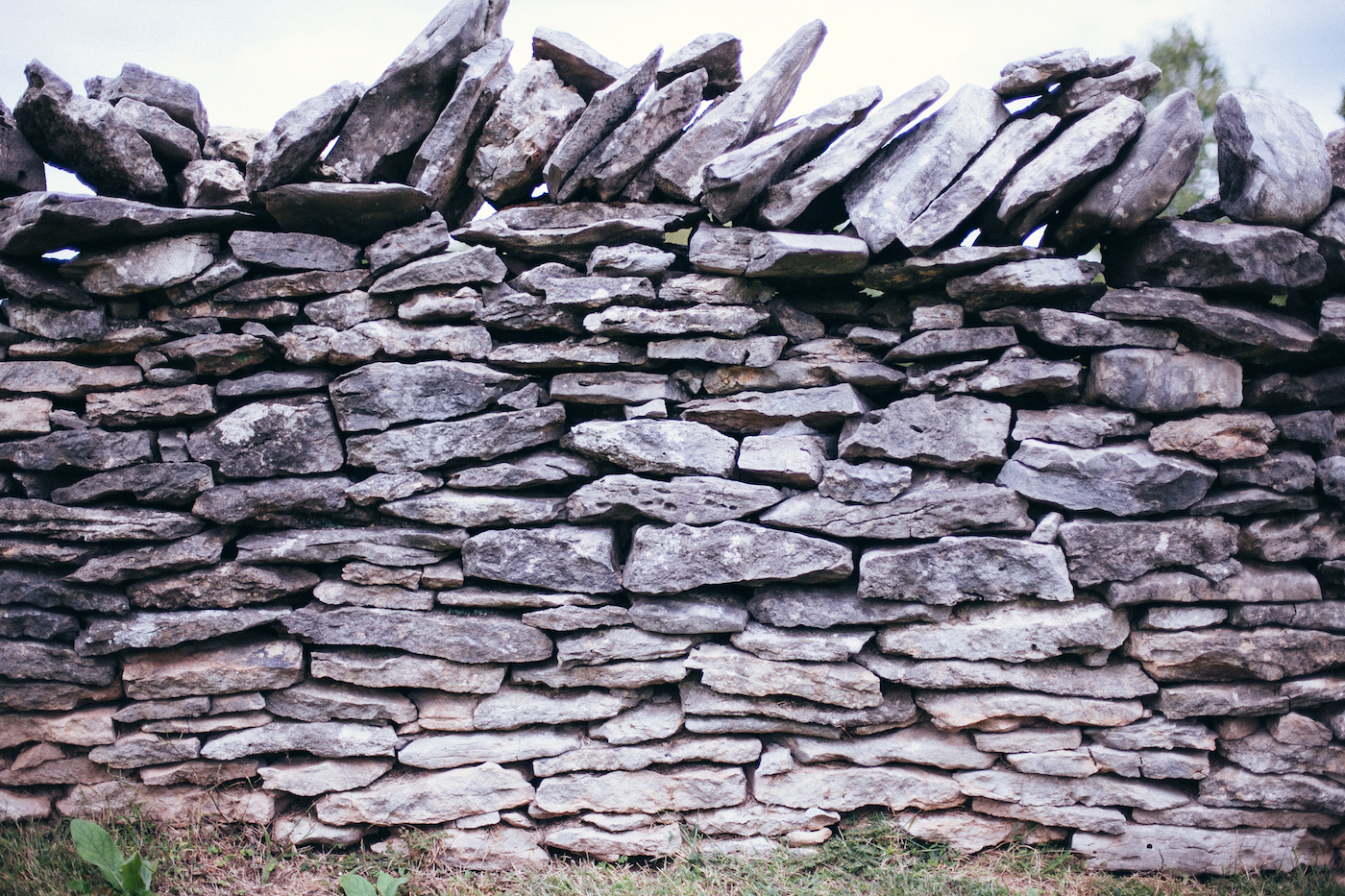 Old gray stone wall